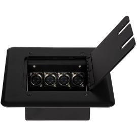 JACOBS SAUND AJ-320  Floor Box for Recessed Mic Inputs 4XLR mail or FEMALE Jacks علبة توصيل لاقط او سماعات 4 اكس أل ار  مناسبة للجوامع والمساجد وممكن وضعها تحت فرش الأرضي