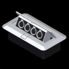 JACOBS SAUND AJ-309 Box for Recessed Mic Inputs 4XLR mail or FEMALE Jacks علبة توصيل لاقط او سماعات 4 اكس أل ار  مناسبة للجوامع والمساجد والمدارس