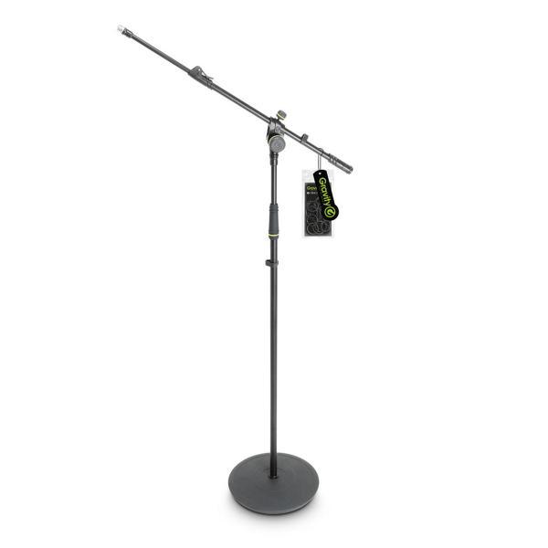 """Gravity GMS2322B Heavy Duty Microphone Stand حامل """" سناند """" لاقط طويل بقاعدة دائرية حديدية من قرفتي الألمانية ثقيل يزن 4 كيلوجرام مناسب للمساجد والمدارس والحفلات"""