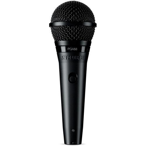 SHURE PGA58 Dynamic Vocal Mic لاقط صوت من شور تقنية أمريكية مناسب للصوت البشري والأيقاعات جودة في الصوت