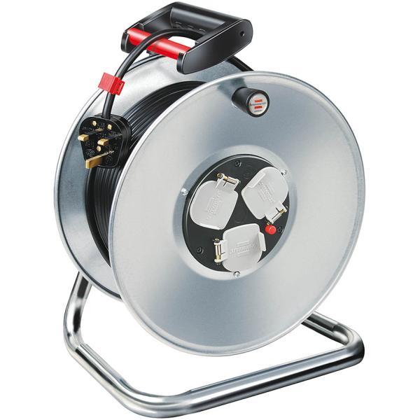 BRENNENSTUHL Garant S 3 cable reel 50m H05VV-F 3G1,5 توصيلة كهرباء رول المانية ثلاثة منافذ بطول 50متر مناسبة للاجهزة الصوتية وغيرها