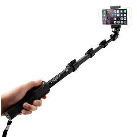 Yunteng YT 1288 Extendable Selfie Stick with Bluetooth Remote Shutter Smartphones عصى سيلفي من يانتينق مع بلوتوث ريموت مدمج مناسبة لجميع الجوالات