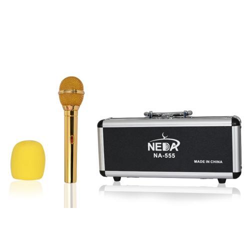 NEDAA NA-535 CONDENSER MICROPHONE لاقط نداء لون ذهبي  حساس كوندينسر جودة عالية مع ضمان سنتين