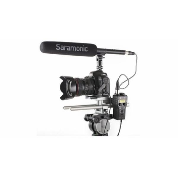 Saramonic SmartRig Plus 2-Channel XLR Microphone Audio Mixer وصلة سيرمانيك 2مدخل للصوت لتسجيل صوت المكسر أو الأوكس على الجوال او الكاميرا وممكن ايضاً استخدامها للبث المباشر على وسائل التواصل الأجتماعي