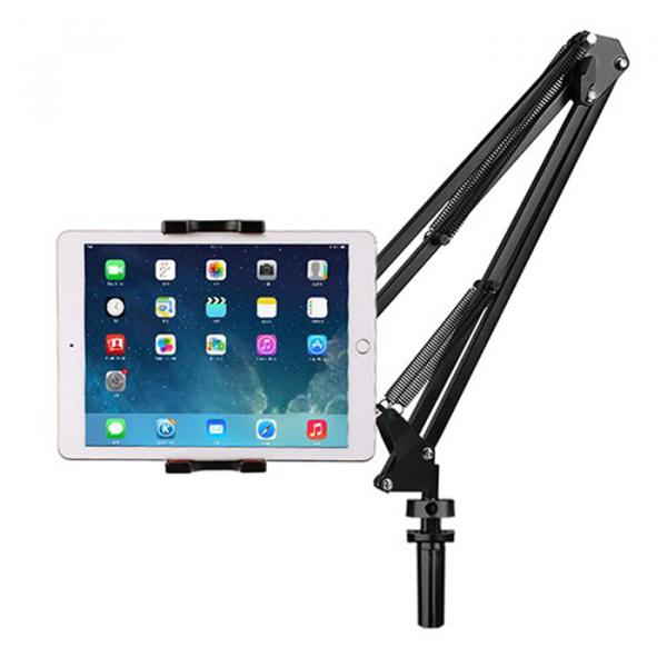 SSKY TABLET -MOBILE Stand Adjustable Suspension Boom Scissor Arm Stand حامل أجهزة لوحية مع ذراع بوم قابل للتثبيت في الطاولة